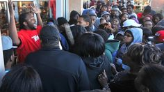 This is a picture taken at one of the outlets just a couple days before Christmas. People are shoving and fighting for a pair of the new Jordan's that only come out every few years with only a limited amount. We see how materialism and consumerism takes over and allows for society to fight for a pair of shoes and pay anything to be the first to get it.