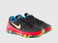 wholesale dealer 16e68 ec87e Nike KD 8 GS Sz 6y Youth Black Metallic Golden Orange Red Splatter 768867  002 for sale online   eBay