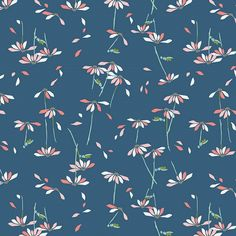 He Loves Me in Blue designed by Amy Sinibaldi for Art Gallery Fabrics as part of the Playground collection