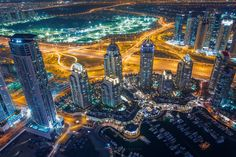The Dubai Marina at Night [OC][1800x1200]