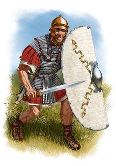 """ROMAN: """"Roman legionary, I century BC"""", by Johnny Shumate."""