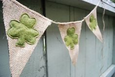 Small St Patrick's Day Burlap by SweetSaraLyn on Etsy, $9.00