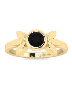 Items similar to Black Diamond Yellow Gold Promise Rings - Vintage Flower on Etsy Black Band Engagement Rings, Black Diamond Jewelry, Diamond Gemstone, Heart Promise Rings, Traditional Engagement Rings, Black Rings, Vintage Rings, White Gold, Yellow Black