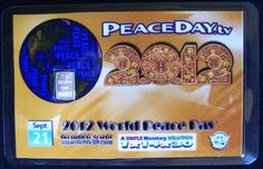 A Peaceday pure Silver Laminated Participation Card.    For more info contact Skype:ubiee.tel?chat