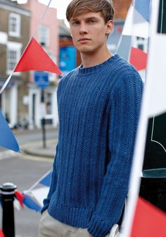 Rowan knitting patterns, Rowan Softknit Collection, Barry, from Laughing Hens Jumper Knitting Pattern, Jumper Patterns, Knitting Patterns Free, Knit Patterns, Free Knitting, Rowan Knitting, Free Pattern, Male Sweaters, Men Sweater