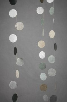 Craft #25: polka dot hanging garland. #craft, #polka_dot, #diy