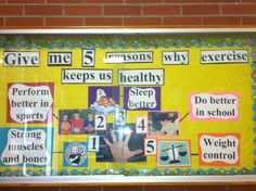 Give me 5 reasons for being healthy bulletin board