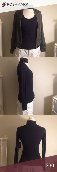 Black top Choker ribbed top. Very cute Atid Clothing Tops