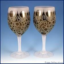 Bubbling Arrows wine goblets