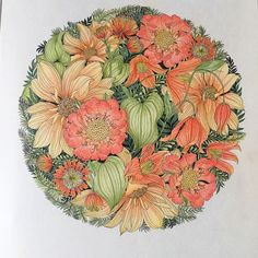 #adultcoloring #colouringbook #adultcolouring #floribunda