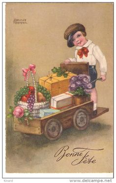 Stamps, coins and banknotes, postcards or any other collectable items are on Delcampe! Happy New Year Cards, Easter Art, Vintage Easter, Vintage Images, Illustrators, Catholic, Christmas Cards, Stamp, Artist