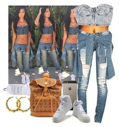 """Swag like Aaliyah"" by lulu-foreva ❤ liked on Polyvore featuring Calvin Klein, MCM, Lydia Bright and NIKE"