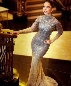 💎💎💎👏🏽 serving bridal inspiration in Hijab Evening Dress, Hijab Dress Party, Long Sleeve Evening Dresses, Prom Dresses With Sleeves, Gala Dresses, Event Dresses, Dinner Gowns, African Fashion Dresses, Classy Dress