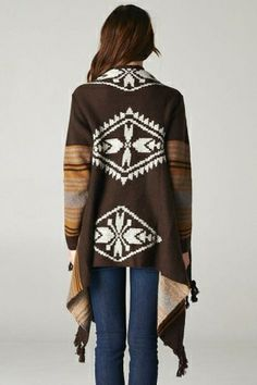 Sabrina Sweater in Warm Chocolates, nice sweater, southwest style, western, reminds me of New Mexico, Angora, earth tones, clothing by kasey...