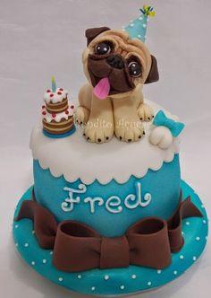 Pug Birthday Cake Sophie's 21st ideas.pug nose cupcakes :333