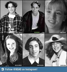 Big Bang Theory cast - the early years.  Of course, we all knew Johnny & Mayim when they were this age anyway!