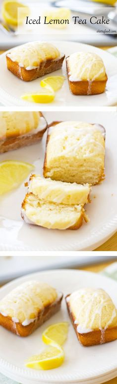 Iced Lemon Tea Cake: This perfect lemon cake tastes like Starbucks's lemon loaf cake–but even better! Iced Lemon Tea Cake For the c flou 13 Desserts, Lemon Desserts, Lemon Recipes, Delicious Desserts, Dessert Recipes, Party Desserts, Summer Desserts, Brunch Recipes, Birthday Desserts