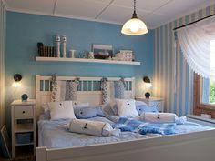 Cool Down ? Blaue Wand Im Schlafzimmer | Schlafzimmer | Pinterest ... Schlafzimmer Maritim