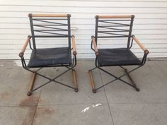 Pair Cleo Baldon Chairs $495. These go for about $1200 each on 1stdibs.