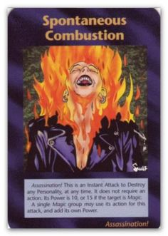 Illuminati Card Spontaneous Combustion