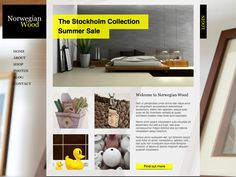 Moonfruit Template - Wood #website #design