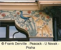 Peacock is the most widespread Art Nouveau pattern.