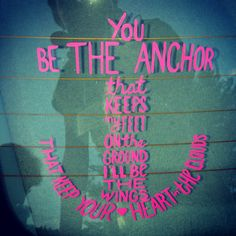 You Be the Anchor  Car Window Decal Laptop Decal by AnchorDesignss