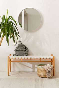 Cohen Woven Bench Modern bench in a durable woven construction we love. Solid wood frame that's perfectly versatile - works in an entryway, bedroom or living r… Furniture Decor, Furniture Design, Yellow Bedding, Bedding Sets, Modern Bench, Sofa Shop, Home And Living, Living Spaces, Living Room