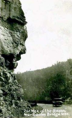 Old Man of the Canyon Rock - Near Gauley Bridge, Fayette County, WV