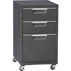 CB2, File Cabinet Carbon - $159