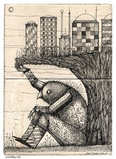 Earthquake Man by joncarling on Etsy, $25.00