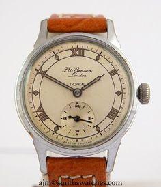 J W BENSON LONDON TROPICAL SMITHS ROMAN NUMERAL DIAL DENNISON AQUATITE CASE… Tropical, Breitling, Will Smith, Roman, Range, London, Watches, Cookers, Wristwatches