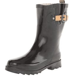 Chooka Womens' Waterproof Top Solid Mid Rain Boot - Women's Rain Boots Best Amazon Products, Christmas Gifts For Women, Trendy Shoes, Solid Black, Black Boots, Amazing Women, Rubber Rain Boots, Footwear, Womens Fashion