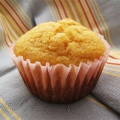 Basic Corn Muffins - Allrecipes.com- made these with 1/2 c grits, 1/2 c. cornmeal, omitted sugar and substituted sugar-free sweet creamer! Cornmeal Muffins Recipe, Sweet Cornbread Muffins, Corn Muffins, Zucchini Muffins, Zucchini Bread, Piments Jalapenos, Profiteroles, Moule Muffin, Muffin Recipes