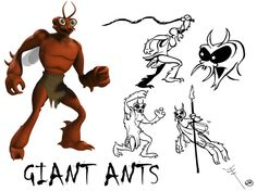 Giant Ants in for the new Mighty Mightor show (Hanna-Barbera) by JM Productions. Hanna Barbera, Jm Productions, Ants, Deadpool, 3d, Superhero, Studio, Fictional Characters, Ant