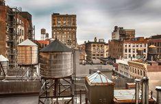 Les fameux water-tanks (ou citernes d'eau) sur les toits de New York