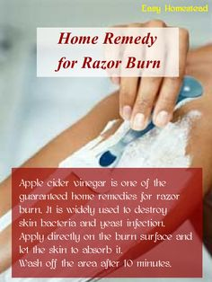 Remedies For Skin Home Remedy for Razor Burn. Also, be prepared for this to sting like a mofo for the first 30 seconds. Beauty Care, Diy Beauty, Beauty Skin, Beauty Hacks, Natural Home Remedies, Natural Healing, Razor Burn Remedies, Hair Remedies, Lifehacks