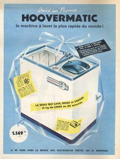 Hoovermatic, la machine à laver la plus rapide du monde - Elle, 8 avril 1960