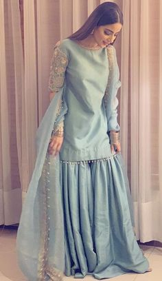 For book ur order kindly send message on whatsapp ,Fb or call at 09888065589 wear gown ethnic wear wedding lehnga wear suit Stylish Dresses For Girls, Stylish Dress Designs, Simple Dresses, Lovely Dresses, Elegant Dresses, Simple Pakistani Dresses, Pakistani Dress Design, Indian Dresses, Pakistani Fashion Party Wear