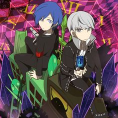 Persona Q: where the P4 protagonist looks consistently as if he's going to stab someone