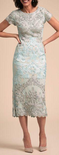 applique scroll dress