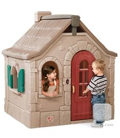 Step 2 Storybook Cottage Playhouse.  Cost about $400.  I highly recommend this playhouse...my boys have loved it for years!  For ages 1 1/2 and up.