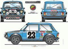 Autobianchi Abarth A112 Group 2 'Montecarlo' Poster – Berni Motori Pit Shop .