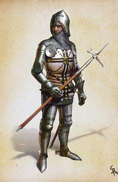 Teutonic Knight by ~CG-Zander on deviantART -  website illustration