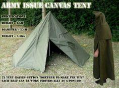 Poncho Tent Rain Cape Coat Zeltbahn Lavvu Polish Army New Plash Palatka 1 | eBay