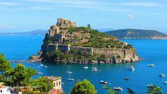 Castello Aragonese in Ischia Ponte, Italy. Ischia also has beaches, thermal parks, and gardens.