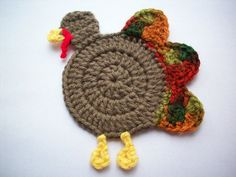 "Free pattern for ""Gobble Coaster"" by yarnpixie!"