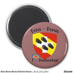 Bern Berne Berna Schweiz Suisse Svizzera Svizra Runder Magnet 5,7 Cm
