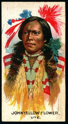 Cigarette Card - Indian Chief, John Yellow Flower
