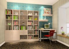 Workspace, Delightful Study Room Ideas Images With Bedroom With Study Area  And Corner Desk Also Bookshelves Ideas : Combo Kids Bedroom And Study Room  Ideas
